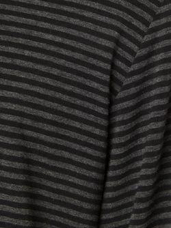 Полосатая Кофта Henley OVADIA & SONS                                                                                                              черный цвет