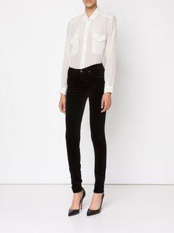 Skinny Velvet Trousers AG JEANS                                                                                                              синий цвет