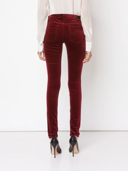 Skinny Velvet Trousers AG JEANS                                                                                                              красный цвет