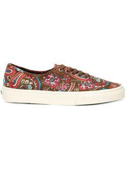 Paisley Print Sneakers Vans                                                                                                              красный цвет