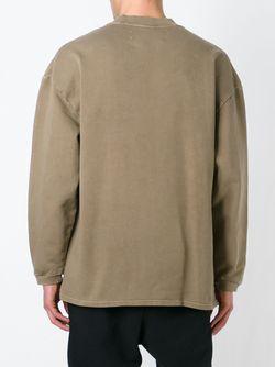 Свободная Толстовка Adidas Originals By Kanye West YEEZY                                                                                                              зелёный цвет