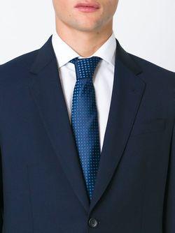 Галстук С Геометрическим Узором Kiton                                                                                                              синий цвет