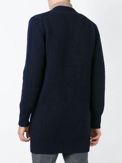 Кардиган С V-Образным Вырезом Jil Sander                                                                                                              синий цвет