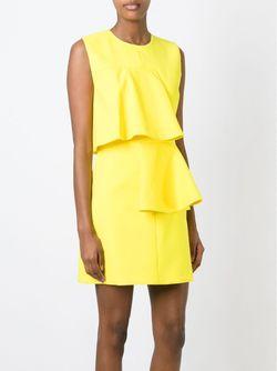 Мини-Платье С Волнистыми Панелями MSGM                                                                                                              желтый цвет