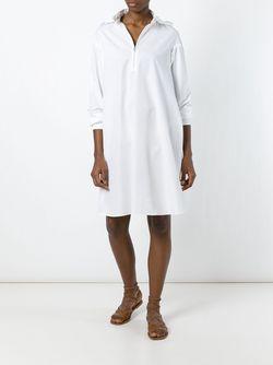 Платье-Рубашка Свободного Кроя Kenzo                                                                                                              белый цвет