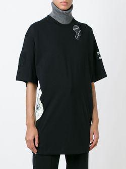 Свободная Футболка Со Значками MSGM                                                                                                              чёрный цвет