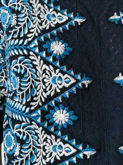 Топ С Вышивкой Sea                                                                                                              синий цвет