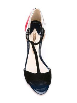 Босоножки С Т-Ремешком Sophia Webster                                                                                                              черный цвет
