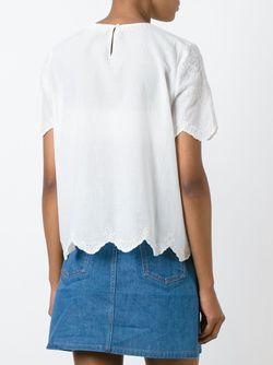 Блузка С Вышивкой Vanessa Bruno Athe'                                                                                                              Nude & Neutrals цвет