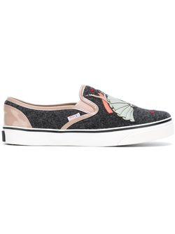 Doll Appliqué Slip-On Sneakers Red Valentino                                                                                                              серый цвет