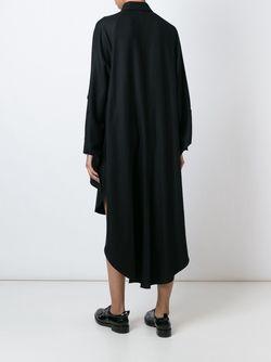 Асимметричное Платье-Рубашка Yohji Yamamoto                                                                                                              черный цвет