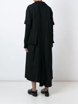 Однобортное Пальто С Многослойными Рукавами Yohji Yamamoto                                                                                                              чёрный цвет