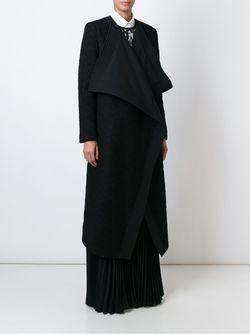 Пальто Средней Длины С Объемными Лацканами Emanuel Ungaro                                                                                                              черный цвет