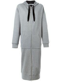Длинное Пальто С Капюшоном T By Alexander Wang                                                                                                              серый цвет