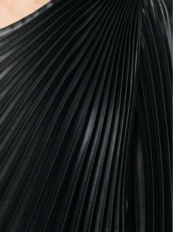 Комбинированное Платье На Одно Плечо С Плиссированным Emanuel Ungaro                                                                                                              черный цвет