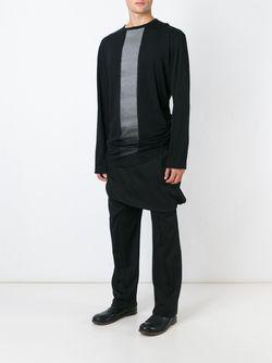 Толстовка С Контрастной Полоской Thamanyah                                                                                                              чёрный цвет
