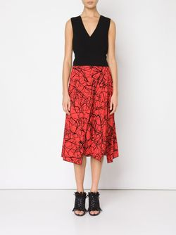 Flocked Layered Dress Proenza Schouler                                                                                                              черный цвет