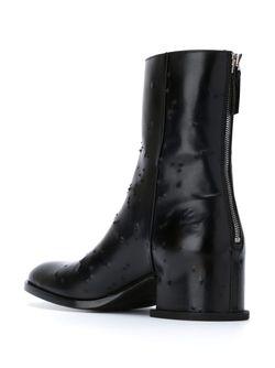 Ботинки По Щиколотку С Потертой Отделкой Givenchy                                                                                                              черный цвет