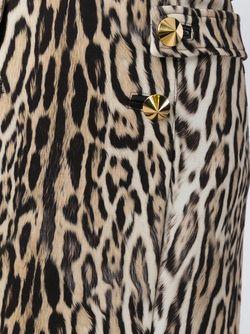 Юбка С Леопардовым Принтом Roberto Cavalli                                                                                                              Nude & Neutrals цвет