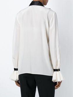 Блузка С Рюшами Roberto Cavalli                                                                                                              белый цвет