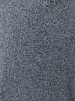 Свитер С V-Образным Вырезом Brunello Cucinelli                                                                                                              серый цвет