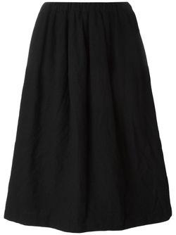 Плиссированная Юбка Comme Des Garcons                                                                                                              черный цвет