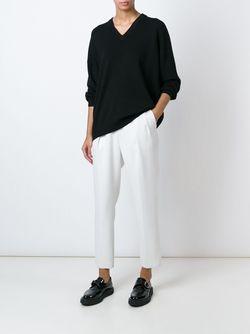 Свободный Свитер С V-Образным Вырезом DKNY                                                                                                              чёрный цвет