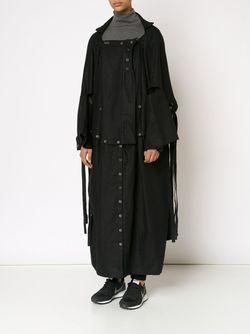 Удлиненное Пальто Свободного Кроя PETRA PTACKOVA                                                                                                              черный цвет
