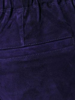 Замшевые Брюки Расклешенного Стиля Буткат STOULS                                                                                                              синий цвет