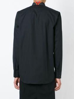 Рубашка С Контрастным Воротником Givenchy                                                                                                              чёрный цвет