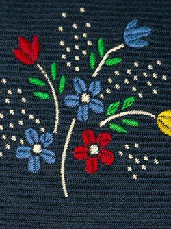 Галстук С Вышитым Цветочным Принтом Massimo Alba                                                                                                              синий цвет