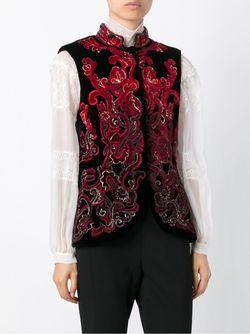 Жилет С Вышивкой Alberta Ferretti                                                                                                              черный цвет