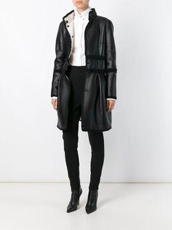 Двухсторонняя Расклешенная Куртка Alberta Ferretti                                                                                                              чёрный цвет