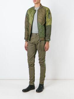Куртка-Бомбер С Контрастными Панелями Maharishi                                                                                                              зелёный цвет