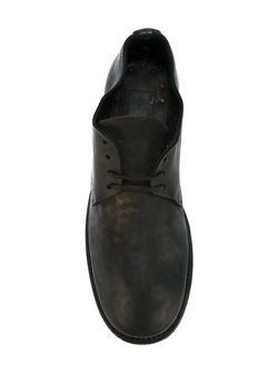 Туфли На Шнуровке С Потертой Отделкой GUIDI                                                                                                              чёрный цвет
