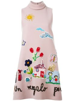 Drawings Appliqué Dress Dolce & Gabbana                                                                                                              розовый цвет