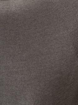 Свитер С Вырезом-Лодочкой Roberto Collina                                                                                                              серый цвет