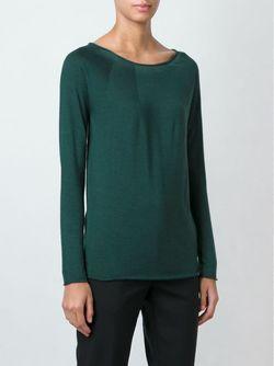 Свитер С Вырезом-Лодочкой Roberto Collina                                                                                                              зелёный цвет