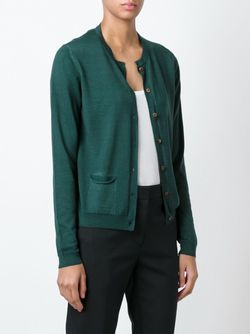 Кардиган С Круглым Вырезом Roberto Collina                                                                                                              зелёный цвет