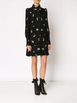 Платье С Цветочной Вышивкой Chloe                                                                                                              чёрный цвет