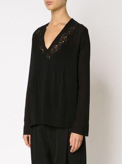 Блузка С Кружевными Вставками Chloe                                                                                                              чёрный цвет