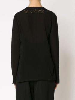 Блузка С Кружевными Вставками Chloe                                                                                                              черный цвет