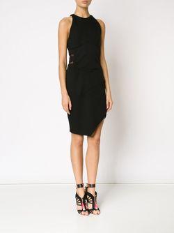 Платье С Сетчатыми Вставками Alexandre Vauthier                                                                                                              чёрный цвет
