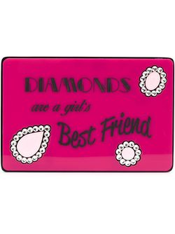 Diamonds Are A Girls Best Friend Clutch Yazbukey                                                                                                              розовый цвет