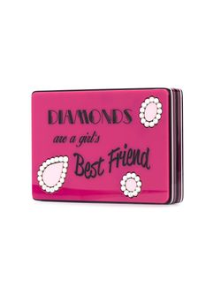 Diamonds Are A Girls Best Friend Clutch Yazbukey                                                                                                              розовый цвет