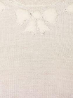 Свитер С Бантиками Вокруг Выреза Comme Des Garcons                                                                                                              белый цвет