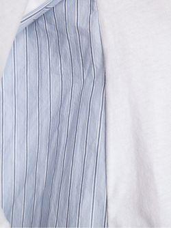 Кофта С Панелями В Полоску Comme Des Garcons                                                                                                              белый цвет
