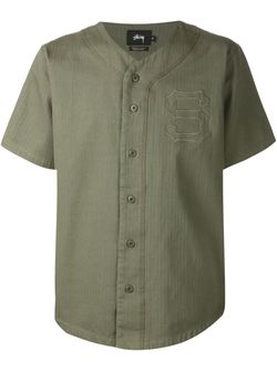 Рубашка С Короткими Рукавами Stussy                                                                                                              зелёный цвет
