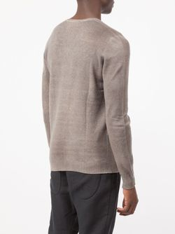 Distressed Effect Sweater Avant Toi                                                                                                              серый цвет