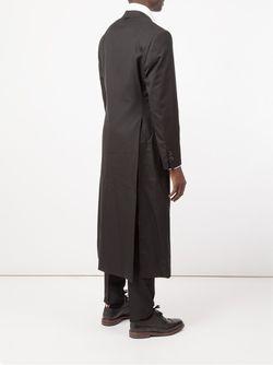 Длинное Пальто Thom Browne                                                                                                              черный цвет